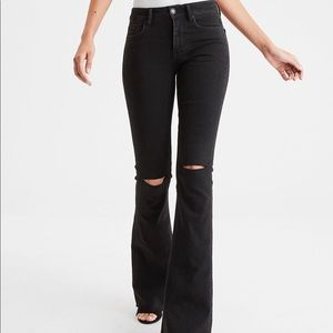 American Eagle | Super stretch flare jeans black